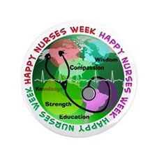 "happy nurses week 2013 2 3.5"" Button"