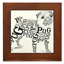 Pug Typography Framed Tile