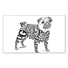 Pug Typography Decal