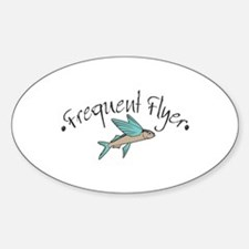 Frequent Flyer Oval Decal
