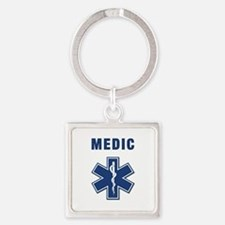 medic star of life.... Square Keychain