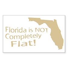 Florida Flat? Rectangle Decal