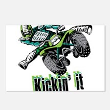 atv Quad kick Postcards (Package of 8)