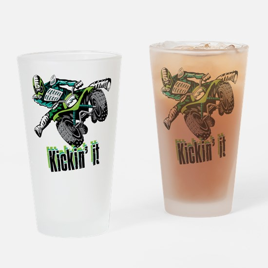 atv Quad kick Drinking Glass