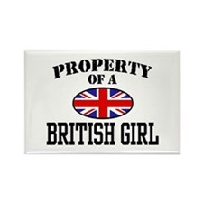 Property of a British Girl Rectangle Magnet