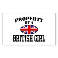 Property of a British Girl Rectangle Decal
