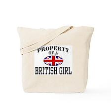 Property of a British Girl Tote Bag
