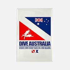 Dive Australia 2 Rectangle Magnet