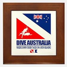 Dive Australia 2 Framed Tile