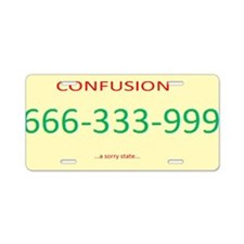 State of Confusion License Plate