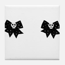 Girly Skulls Bows Breast Pasties Shirt Womens Tile