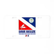Dive Belize Aluminum License Plate