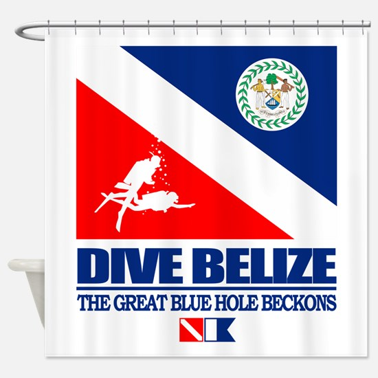 Dive Belize Shower Curtain