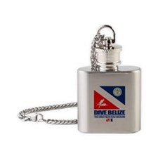 Dive Belize Flask Necklace