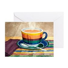 Rainbow Cafe Cup Greeting Card