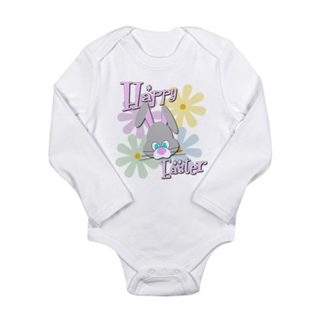 Easter Bunny & Flowers Long Sleeve Infant Body