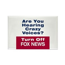 Turn Off Fox News Rectangle Magnet