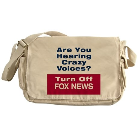Turn Off Fox News Messenger Bag