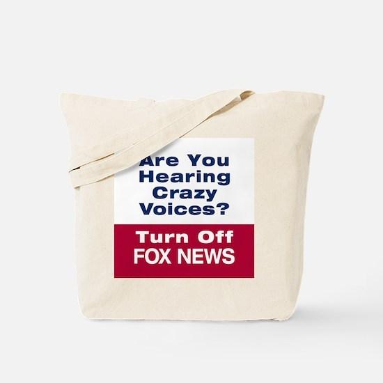 Turn Off Fox News Tote Bag