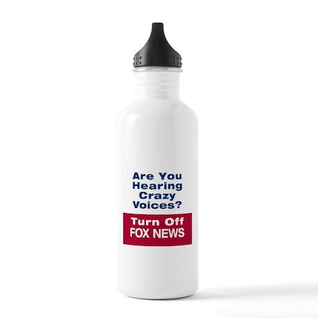 Turn Off Fox News Water Bottle