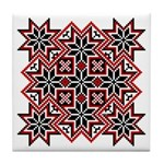 Folk Design 8 Tile Coaster