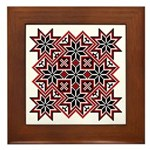 Folk Design 8 Framed Tile