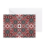 Folk Design 8 Greeting Cards (Pk of 10)