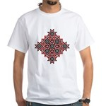 Folk Design 8 White T-Shirt