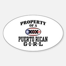 Property of a Puerto Rican Girl Oval Decal
