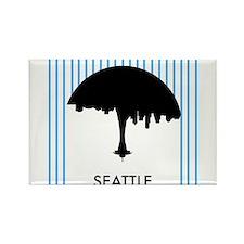 Seattle City Logo Rectangle Magnet