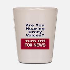 Turn Off Fox News Shot Glass