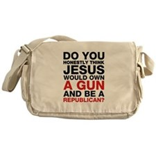 Jesus Is Not A Gun-Toting Republican Messenger Bag