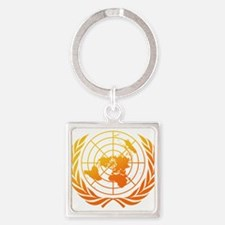 United Nations 2 Square Keychain