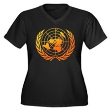 United Nations 2 Women's Plus Size V-Neck Dark T-S