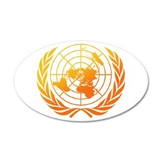 United Nations 2 20x12 Oval Wall Decal