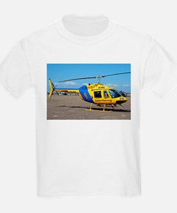 Helicopter (blue & yellow) T-Shirt