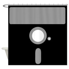 Retro 5.25 Floppy Disk Shower Curtain