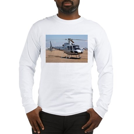 Helicopter (silver) Long Sleeve T-Shirt
