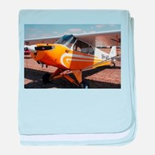 Piper Cub Aircraft (yellow & white) baby blanket