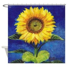 Solitary Sunflower Shower Curtain