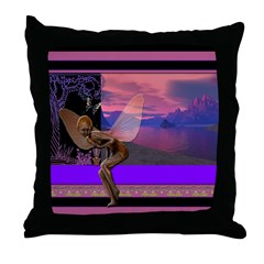 Water Pixie Throw Pillow