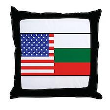 USA/Bulgaria Throw Pillow