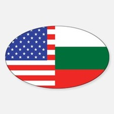 USA/Bulgaria Oval Decal