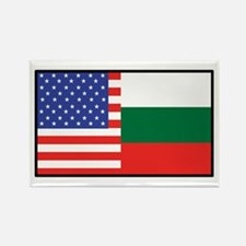 USA/Bulgaria Rectangle Magnet