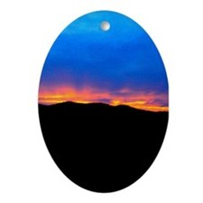 Black Hills Sunset Ornament (Oval)