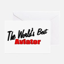 """The World's Best Aviator"" Greeting Cards (Package"