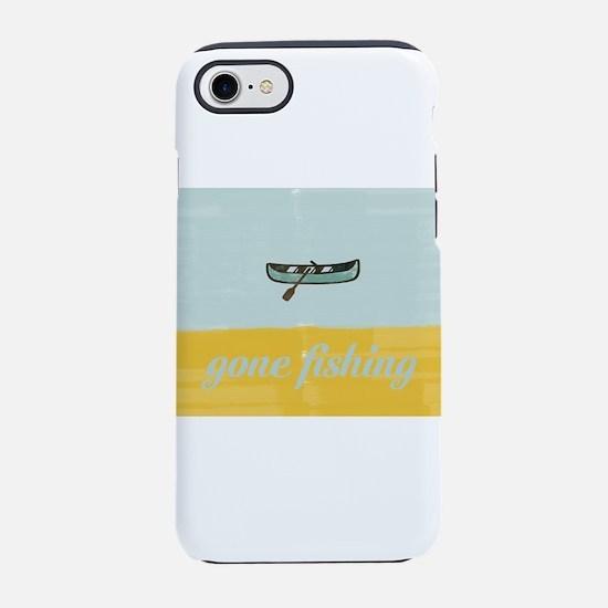 Gone Fishing Mint Watercolor iPhone 7 Tough Case