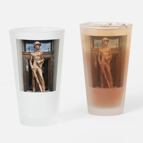 Butte, Montanas Copper Soldier Drinking Glass