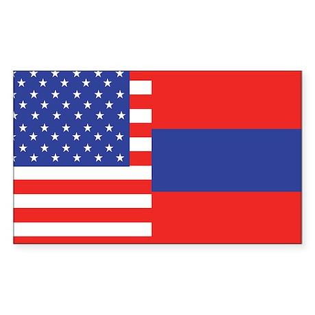 USA/Armenia Rectangle Sticker