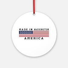 Made In Washington Ornament (Round)